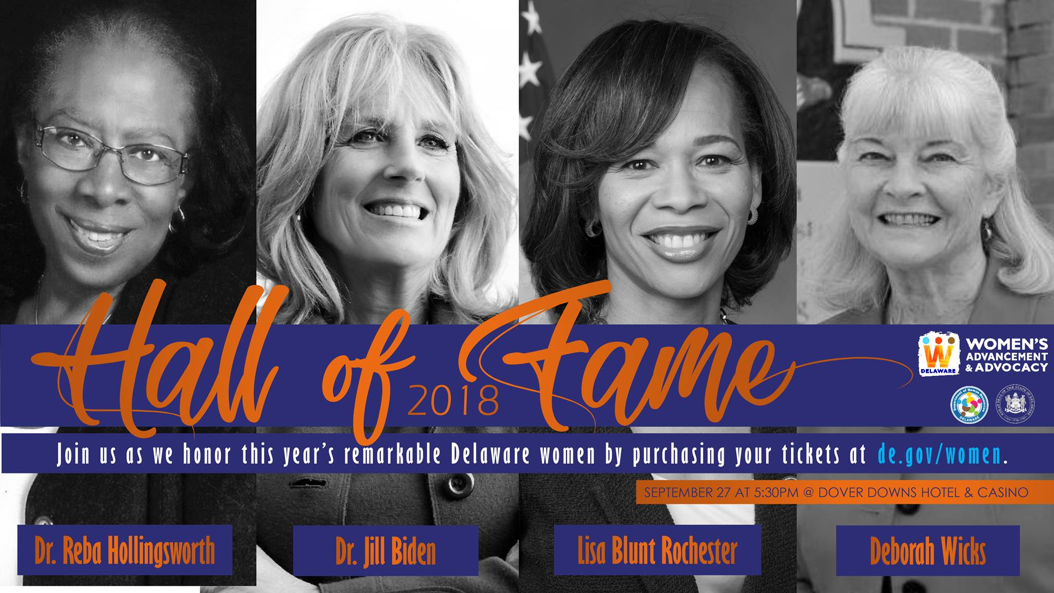 Hall of Fame of Delaware Women 2018 Inductees