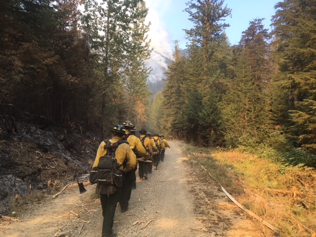 Delaware wildfire crew in Idaho