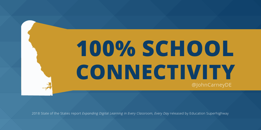 Delaware Recognized for 100% School Connectivity - State of Delaware