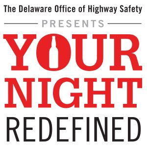 your night redefined logo in red and black lettering