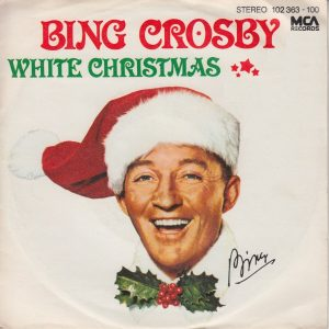 Photo of a Bing Crosby album, titled White Christmas
