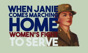 "Logo for ""When Janie Comes Marching Home"" display"