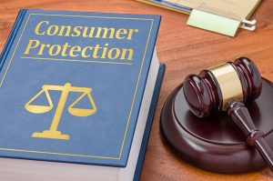 Photo of a A law book with a gavel - Consumer Protection