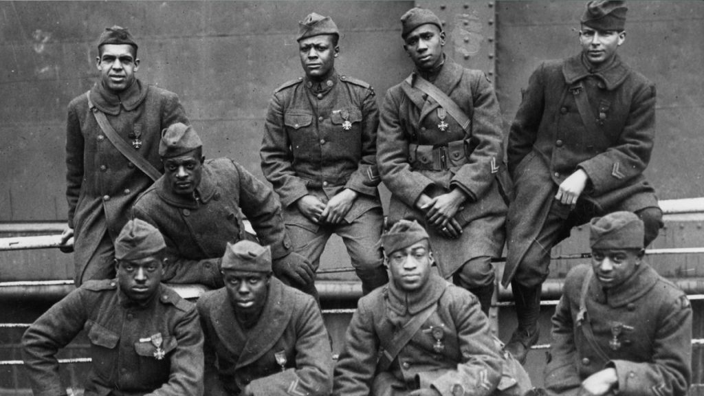 Members of the Harlem Hellfighters who served during World War I. The experience of African American soldiers during and after the war will be explored at The Old State House on Feb. 23, 2019.