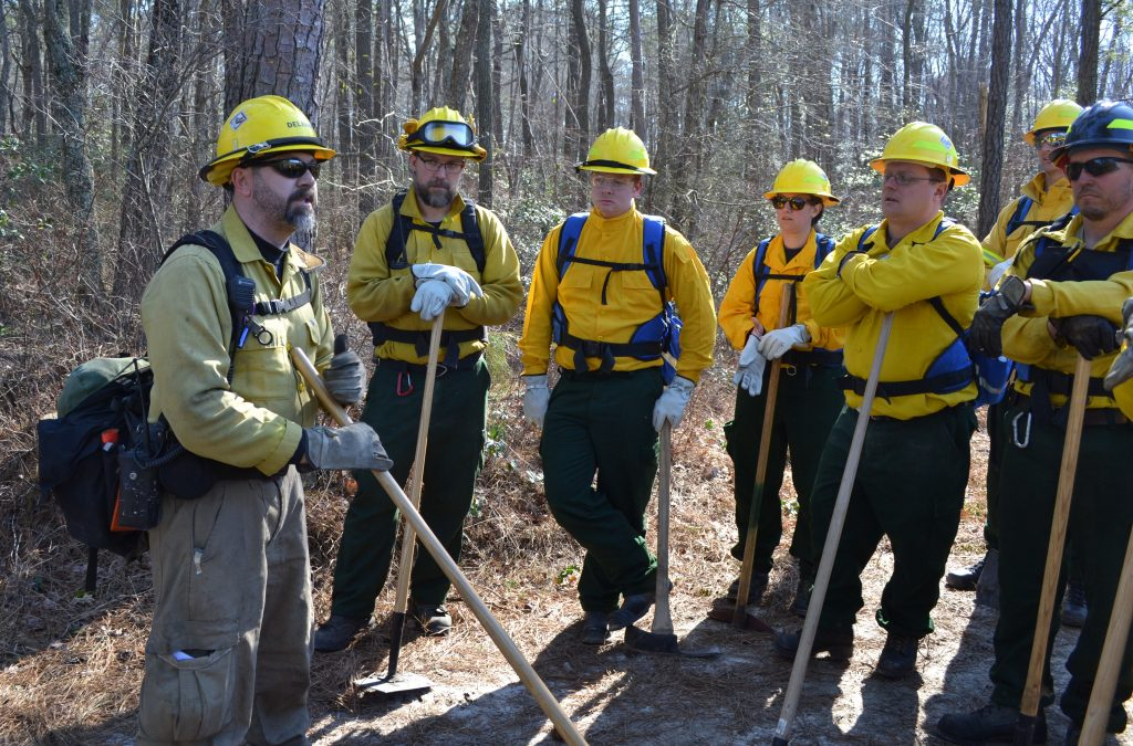 "Delaware ""Fire camp"" crew meeting"