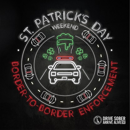 st patrick's day border to border enforcement delaware logo