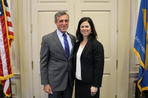 Governor Carney and Meghan Adams Perry