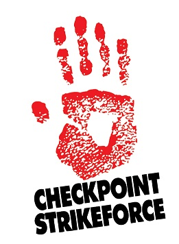 Picture of checkpoint strikeforce and red hand print