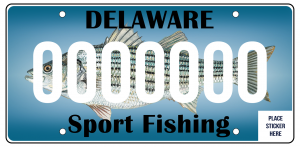 Sport Fishing License Plate
