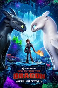 "Photo of poster for the film ""How to Train Your Dragon—The Hidden World"""