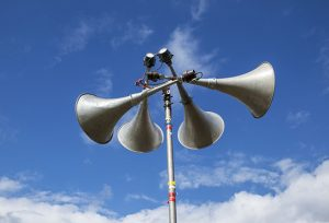 Photo of a public alert siren