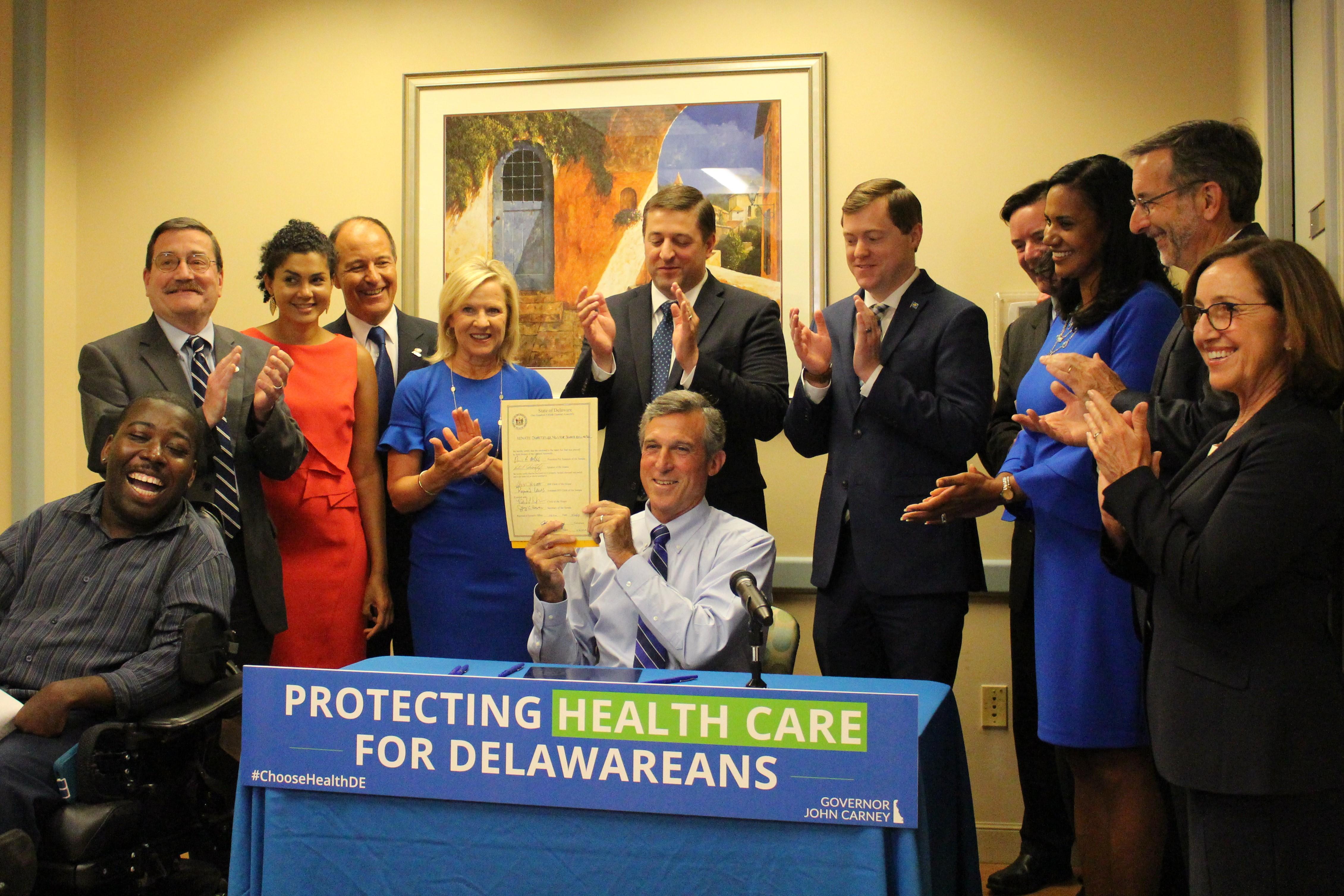 Governor Carney Signs Legislation Protecting Health Care for Delawareans