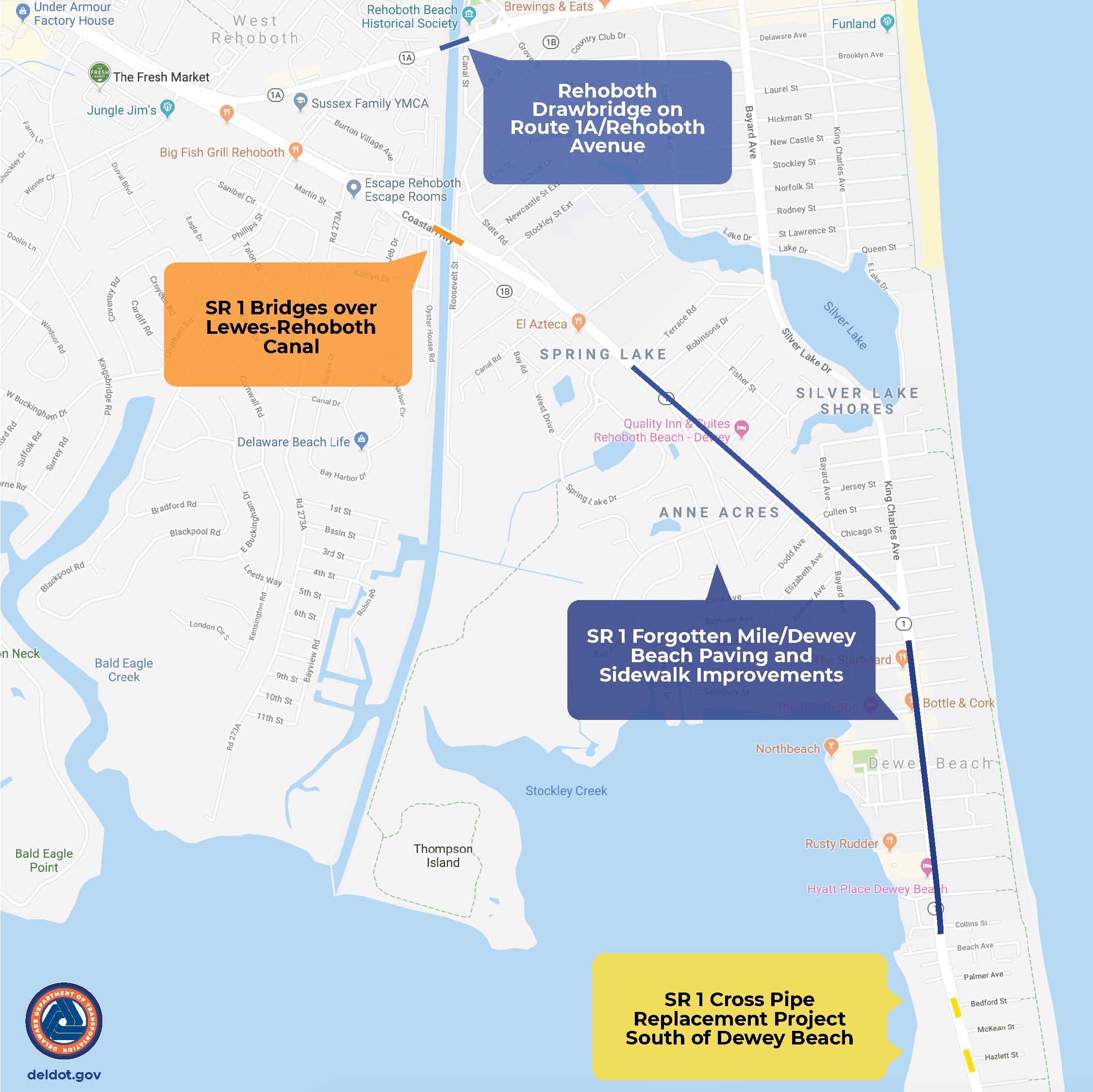 Offseason Projects for Rehoboth Beach & Dewey Beach Corridor