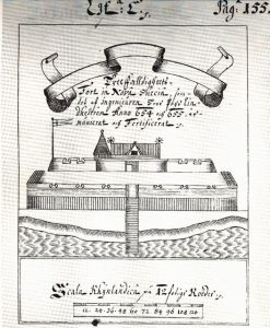 Illustration depicting Fort Casimir