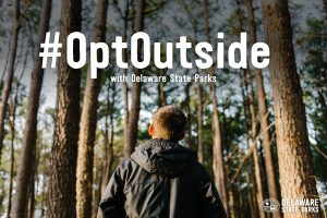A graphic promoting the use of the hashtag #OptOutside