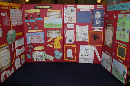Photo of Lake Forest Central Elementary School 2019 Delaware Day display