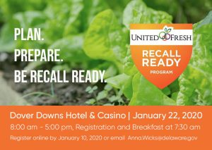 lettuce and banner announcing United Fresh Recall Ready Workshop
