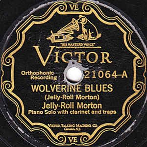 Record label for Wolverine Blues by Jelly Roll Morton