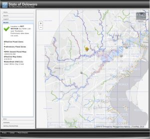 Sample online floodplain map