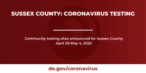 Coronavirus Testing Sites Announced in Sussex County for Week of April 29-May 4, 2020