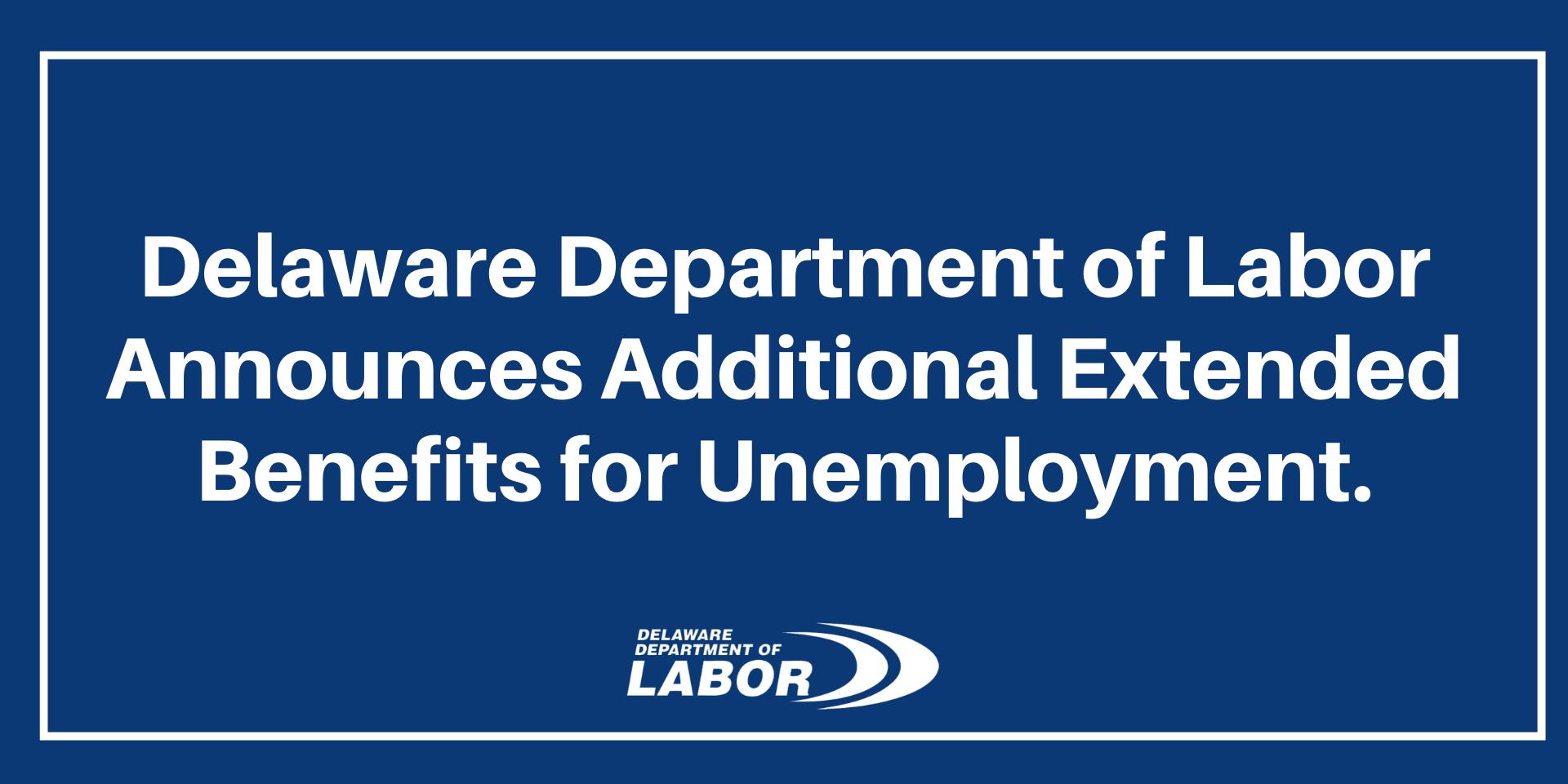 Extended Benefits Delaware gov Header.'
