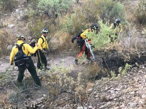 Delaware wildfire crew in Arizona