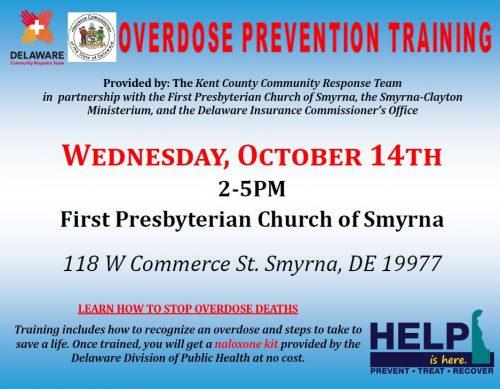 Overdose prevention training flyer