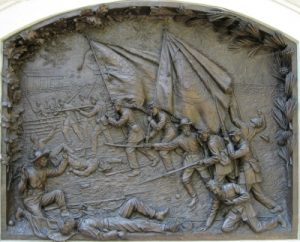 Photo of the bas relief from the State of Delaware mounument at Gettysburg
