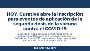 HOY: Curative abre la inscripción para eventos de aplicación de la segunda dosis de la vacuna contra el COVID-19