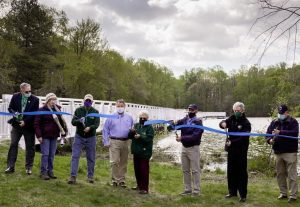 Ribbon cutting ceremony for new Killens Pond State Park boardwalk