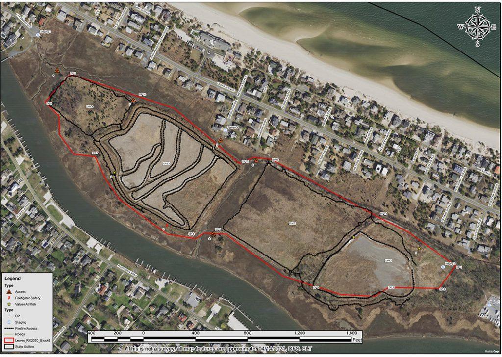 Lewes Rx Burn Map