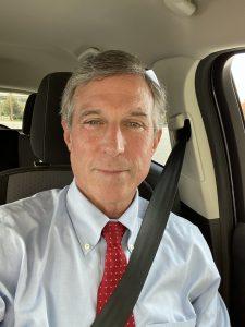 Delaware Governor John Carney Buckled Up in Motor Vehicle