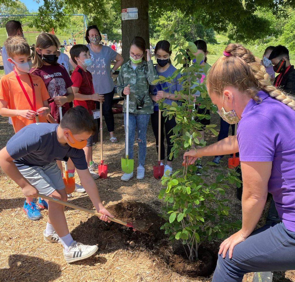 Heritage Elementary tree planting