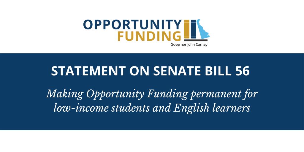 Statement on Senate Bill 56