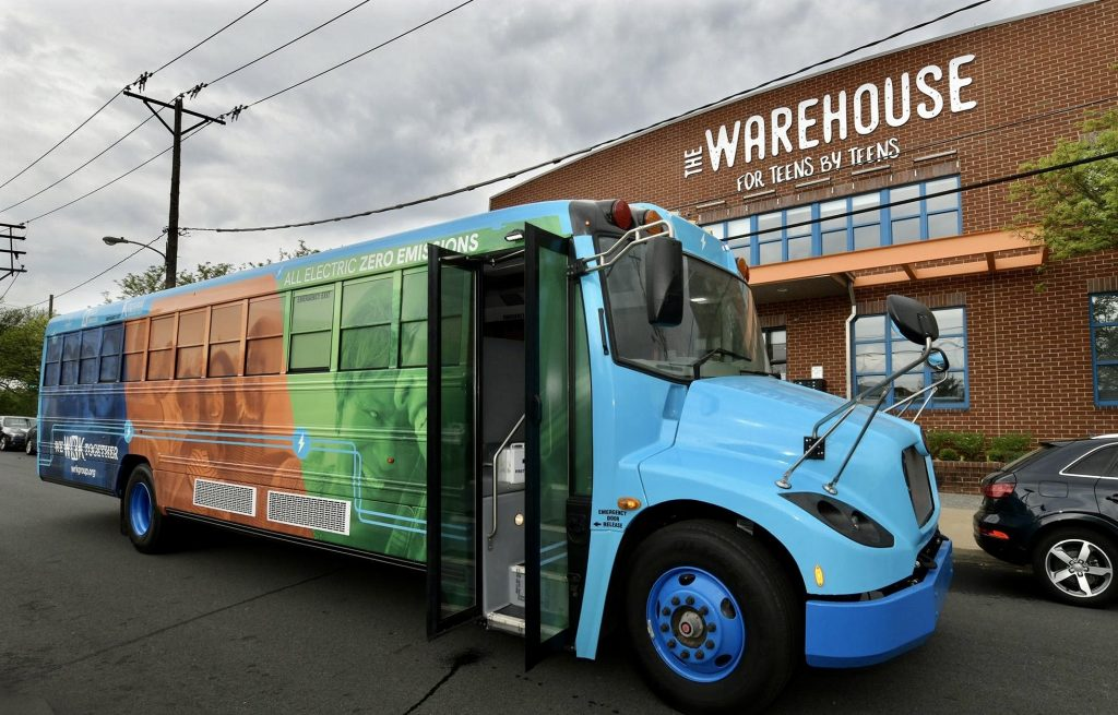 Vehicle-to-Grid (V2G) bus unveiled June 14 at The Warehouse in Wilmington
