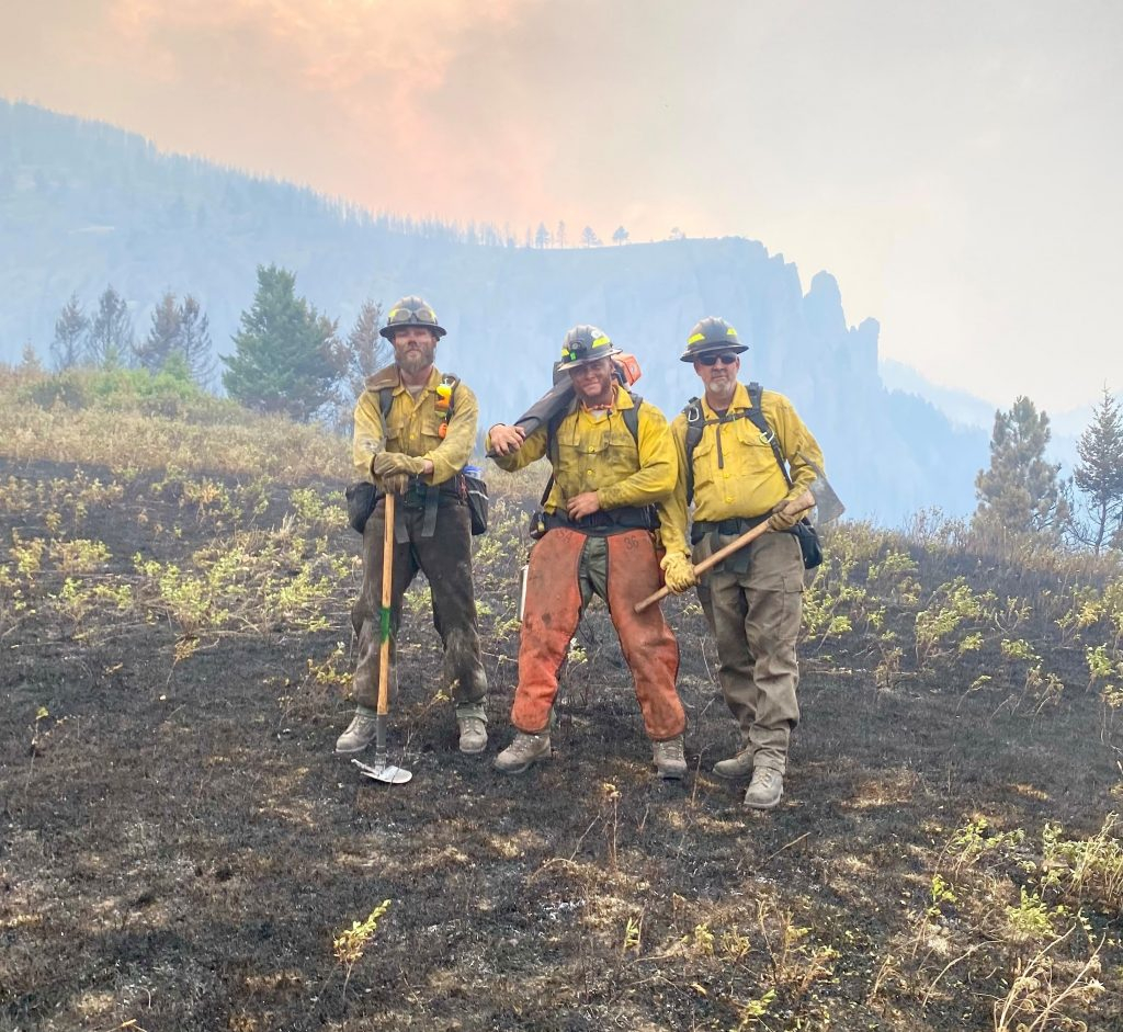 Delaware wildfire crew Montana