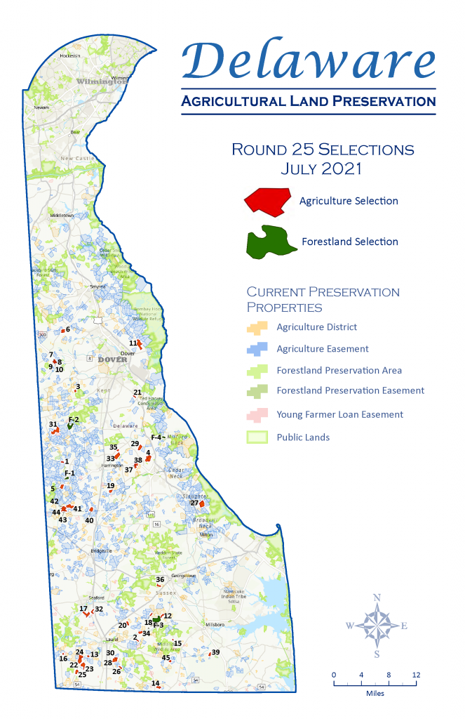 Round 25 Easement Selection Map