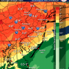 Rainfall estimates from the storm ranging from 4 inches for New Castle County to 1 inch in Sussex County.