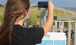 Broadkill Beach CoastSnap Station for citizen science photos