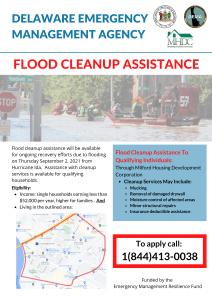 DE Flood Cleanup Assistance