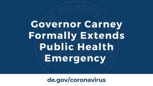 Governor Carney Formally Extends Public Health Emergency