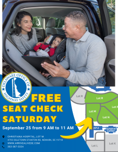 On Saturday, September 25, local caregivers are invited to stop by Christiana Hospital's Newark Campus for our free our Seat Check Saturday event. From 9 a.m. to 11 a.m., certified child passenger safety technicians will help families correctly install car seats and booster seats.