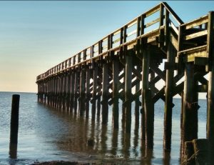 The Port Mahon fishing pier east of Dover