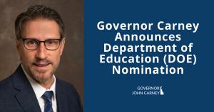 Photo of Mark Holodick - Governor Carney Announces Department of Education (DOE) Nomination