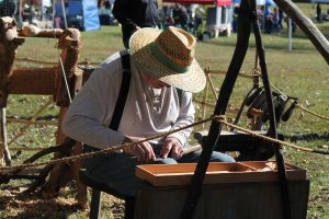 Woodworking at the Blackbird Creek Fall Festival in Townsend
