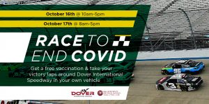 Race to End Covid graphic