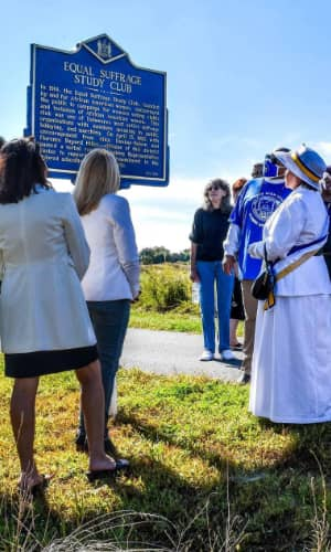 dedication of the equal suffrage study club marker