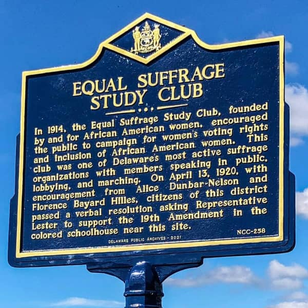 the equal suffrage club historical marker