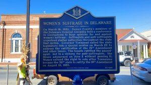 Women's Suffrage in Delaware Historical Marker